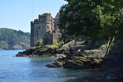 Dartmouth Castle, Devon, Sea, River, Naval, Coast