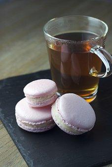 Macarons, Tea, Dessert, Macaroon, Cup
