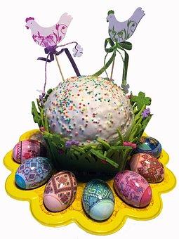Easter Cake, Easter, Eggs, Holiday, Christ Is Risen