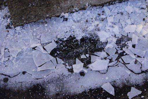 Ice, Hole, Airhole, Crushed, Broken, Winter, Frost