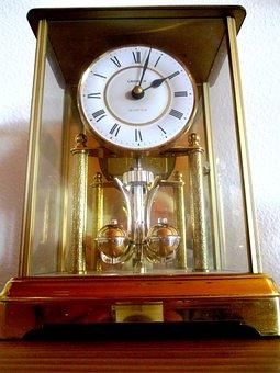 Time, Clock, Table Clock, Grandfather Clock, Golden