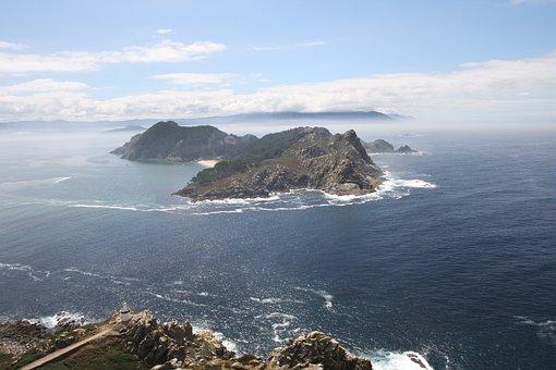Landscape, Sea, Cíes Islands, Galicia, Holiday, Sky