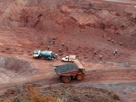 Mining, Iron Ore, Mine, Transport, Dumper, Iron