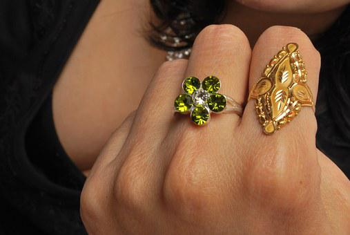 Ring, Jewellery, Gold, Crystal, Fingers, Fashion