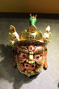 Lhasa, Tibet, Mask, Totem, Art, Crafts