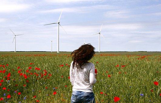 Wind Turbines, Windmills, Spin, Maki, Wind