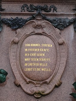 Leipzig, Mende Fountain, Augustus Square, Monument