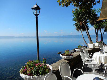 More, Bracciano, Italy, View, Cafe
