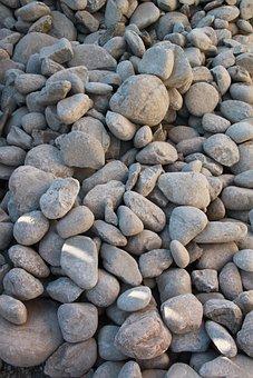 Boulders, Close-up, Pebbles, Pile, Rocks, Round, Stones