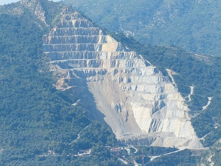 Quarry, Removal, Limestone, Mountain, Mountain Edge