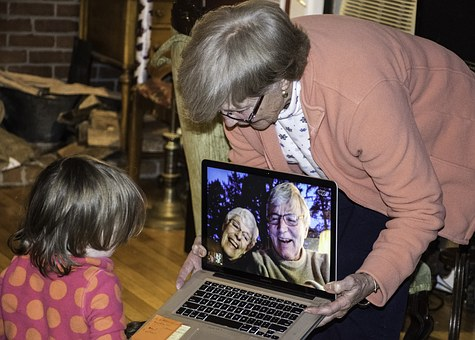Grandparents, Grandchildren, Remote, Skype, Video