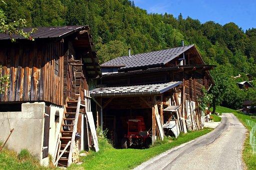 France, Savoie, Alps, Saint-nicolas, Farm, Bucolic