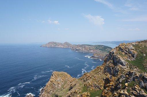 Galicia, Cíes Islands, Atlantic Ocean, Landscape, Sea