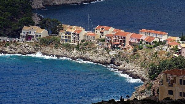 Greece, Assos, Cephalonia, Kefalonia, Island, Sea, Blue