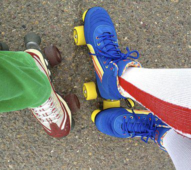 Skate, Roller Skating, Feet, Leisure, 4 Wheels, Sport