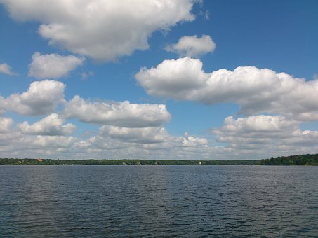Wannsee, Sky, Berlin, Lake, Nature, Clouds, Landscape