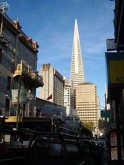 San, Francisco, California, Skyline, Skyscraper
