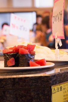Sushi, Round And Round Sushi, Tuna, Nori Winding