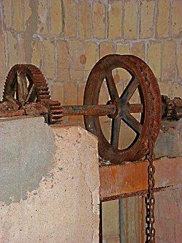 Well, Mechanism, String, Water, Iron, Noria
