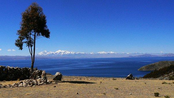 Sea, Bolivia, Beach, Seascape, Sky, Water, Sand, Wave