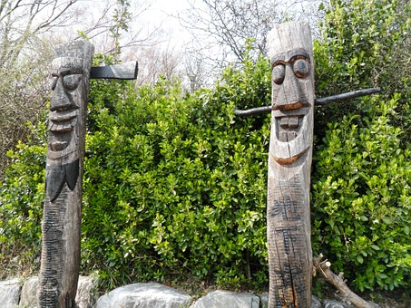 Korea, Asia, Statue, Wood, Totem, Travel, Culture