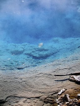 Deep, Blue, Water, Yellow Stone National Park, Wyoming