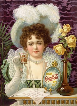 Coca Cola, Advertising, 1890, Woman, Portrait, Usa