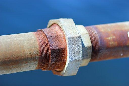 Blue, Brown, Grey, Iron, Metal, Pipe, Red, Rust, Steel