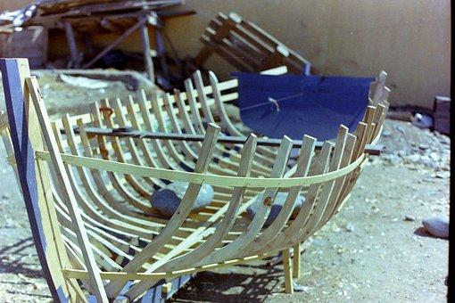 Boot, Basic Scaffolding, Bootbau, Wood, Wood Gerippe