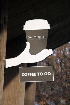 Sign, Cofee2go, Cafe, Cofee, Beverage, Breakfast