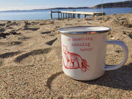 Beach, Coffee Mug, Bridge, Cup, Marning, Lesure, Relxa