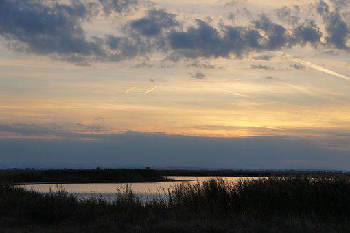 Sunset, Long Varnishes, Pannonian Lowland, Burgenland
