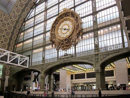 Musée D'orsay, Clock, Paris, Museum, France, Orsay