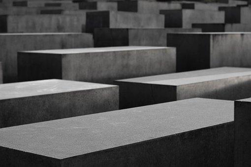 Berlin, Concrete, Holocaust Memorial, Sadness, Stone