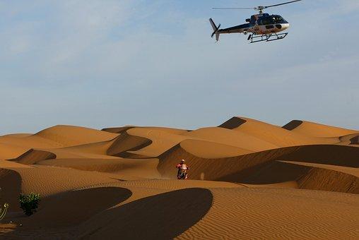 Dakar Rally, Desert, Sahara, Helicopter, Motorsport
