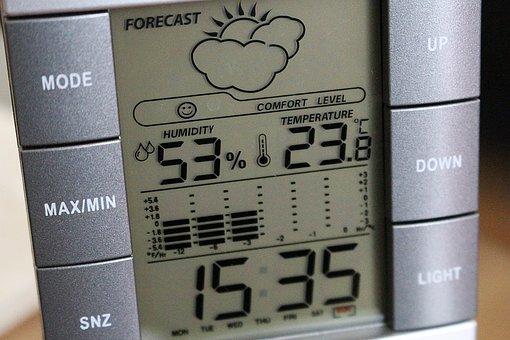 Weather Station, Digital Display, Clock, Humidity