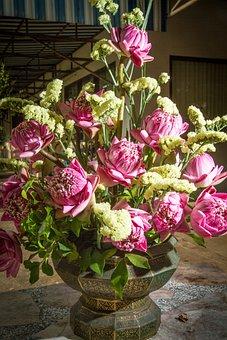 Bouquet Of Flowers, Flowerpot, Flower Pot, Potted Plant