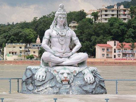 India, Rishikesh, Ganges, Shiva, Statue, God, Hindu