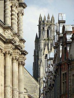 France, Arras, Facades, Church, Architecture, Gothic