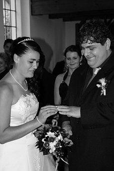 Wedding, Bride, Groom, Witness, Bouquet, Bridal Bouquet