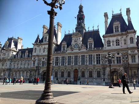 Hotel De Ville, Hotel, Paris, Landmark, City