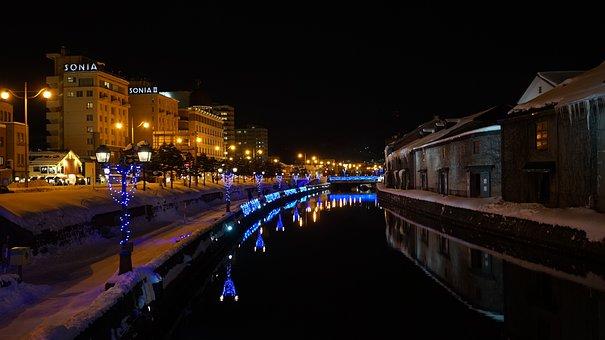 Otaru, Canal, Hokkaido, Japan, Tourist Destination
