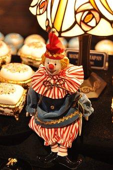 Japan, Hokkaido, Otaru, Clown, Toys, Decoration