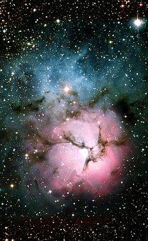 Trifid Nebula, Messier 20, Ngc 6514, Emission Nebula