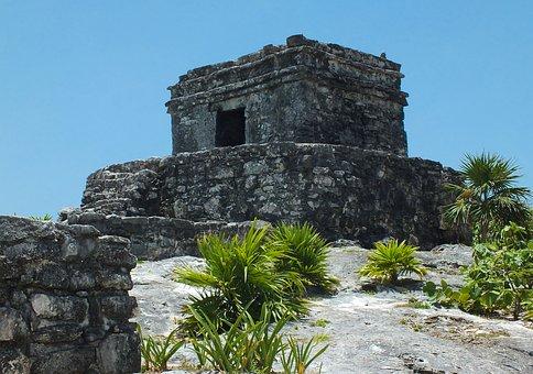 Mexico, Tulum, Temple, Maya, Ruins