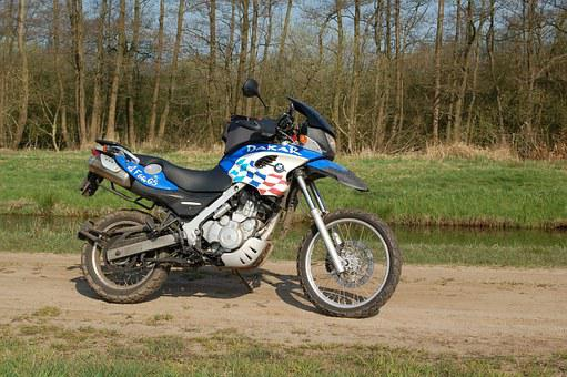 Motorcycle, Bmw, Allroad, Offroad, Motor, Blue, F650gs