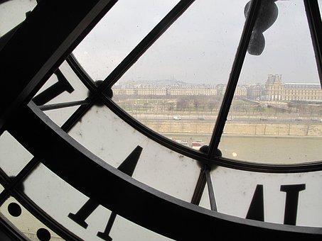 Paris, Orsay, Museum, Overview, Clock