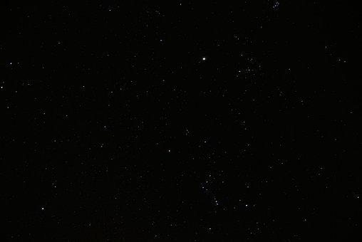 Night, Stars, Space, White, Sparkle, Orion