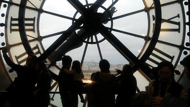 Paris, Museum, D'orsay, Clock, Old, Station