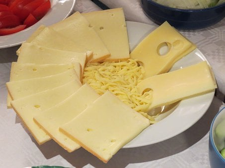 Cheese, Grated, Discs, Raclette Cheese, Raclette, Gouda